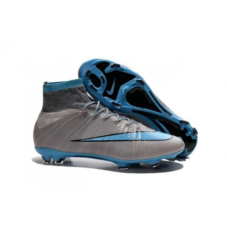 Scarpe da Calcio Nuovi Ronaldo Nike Mercurial Superfly FG Grigio Blu