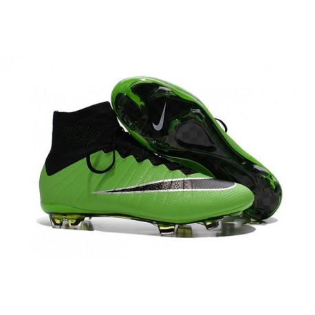 Scarpe da Calcio Nuovi Ronaldo Nike Mercurial Superfly FG Verde Nero