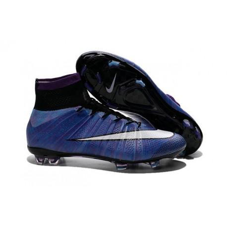 Scarpe da Calcio Nuovi Ronaldo Nike Mercurial Superfly FG Viola Bianco