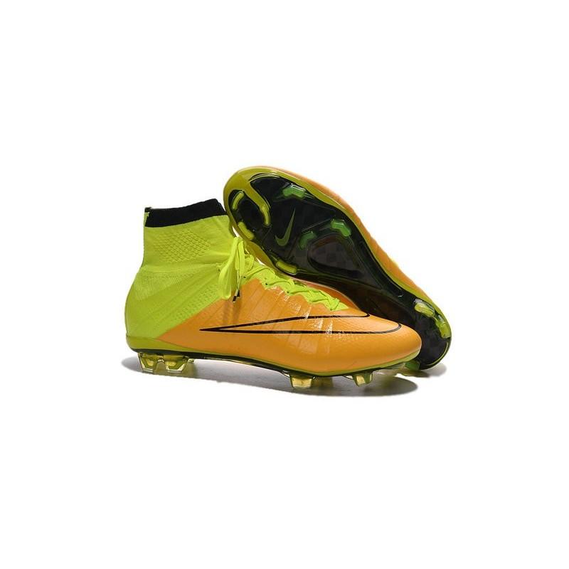 official photos 76288 c6d9b Nike Mercurial Superfly FG Nuove Scarpe Calcetto Pelle Giallo Volt