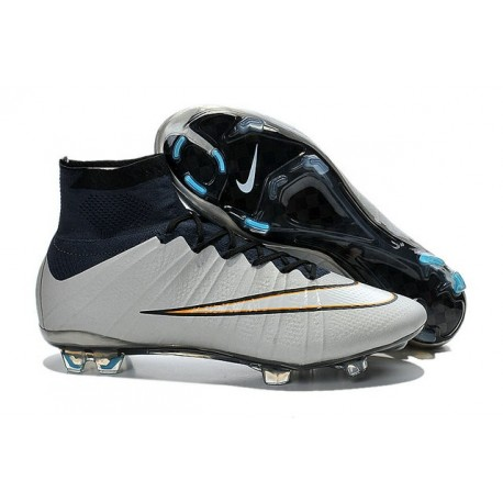 Scarpa Calcio Cristiano Ronaldo Nike Mercurial Superfly CR7 FG Metallico Nero