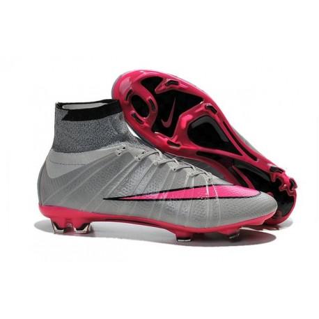 Scarpa Calcio Cristiano Ronaldo Nike Mercurial Superfly 4 FG Grigio Rosa