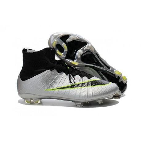 Scarpa Calcio Cristiano Ronaldo Nike Mercurial Superfly 4 FG Metallico Nero
