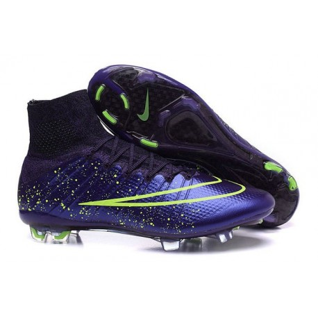 Scarpa Calcio Cristiano Ronaldo Nike Power Clash Mercurial Superfly 4 FG Viola Nero