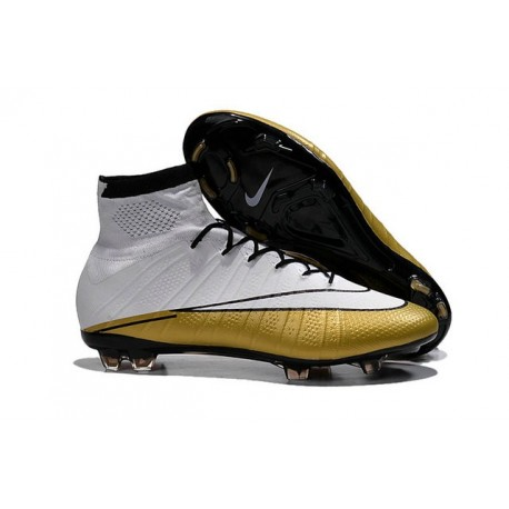 Scarpa Calcio Cristiano Ronaldo Nike Mercurial Superfly FG 501 Bianco Oro