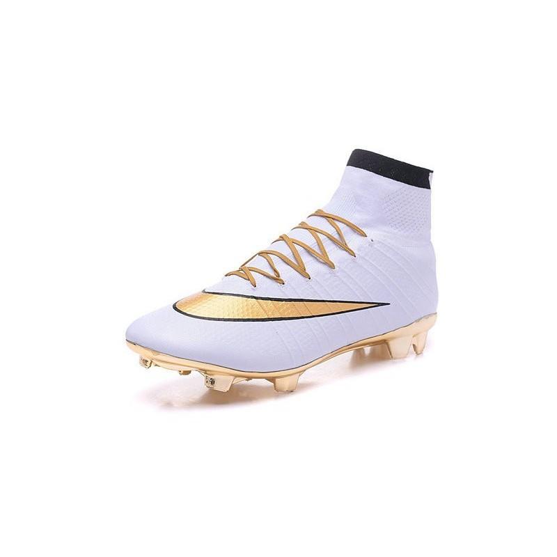 Fg Nike Oro 2016 Scarpe Mercurial Bianco Acc Superfly Nuovo Calcetto nPZNX8k0wO