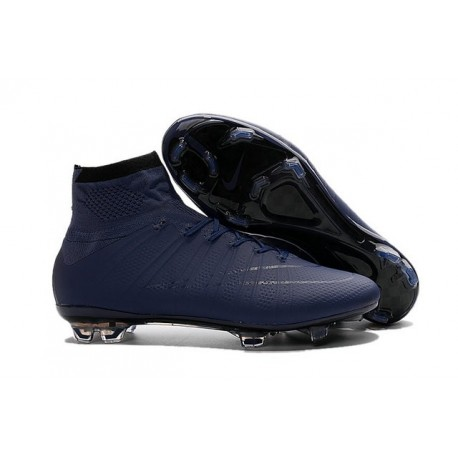 Nike Nuovo 2016 Scarpe Calcetto Mercurial Superfly FG ACC Profondo Blu