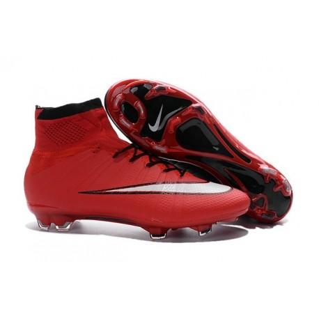 Scarpa Calcio 2016 Ronaldo Nike Mercurial Superfly FG Rosso Nero Bianco