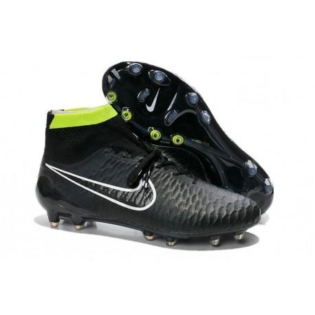 Scarpette da Calcio Nike Magista Obra FG ACC Uomo Nero Verde Bianco