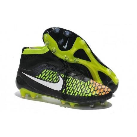 Nike Nuovo Scarpe da Calcio Magista Obra FG Nero Verde Bianco