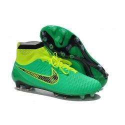 Scarpette da Calcio Nike Magista Obra FG ACC Uomo Verde Nero