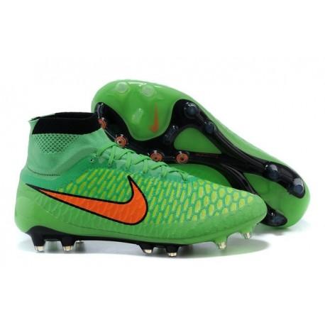 Nike Nuovo Scarpe da Calcio Magista Obra FG Verde Arancio