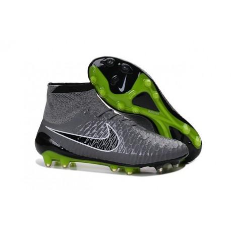 Nike Nuovo Scarpe da Calcio Magista Obra FG Grigio Nero