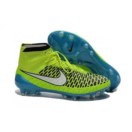 Nike Nuovo Scarpe da Calcio Magista Obra FG Verde Blu Bianco