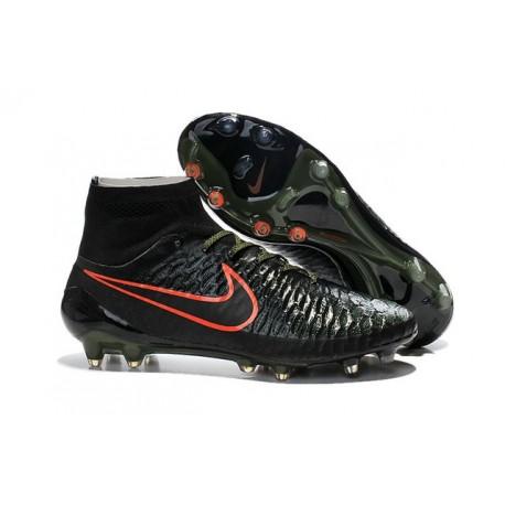 Nike Nuovo Scarpe da Calcio Magista Obra FG Nero Rosso