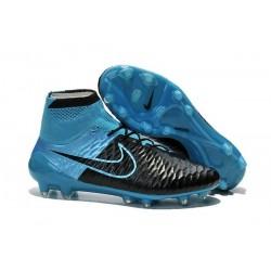 Nuove Scarpa da Calcio Nike Magista Obra FG ACC Pelle Nero Blu