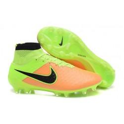 Nuove Scarpa da Calcio Nike Magista Obra FG ACC Pelle Giallo Volt Nero
