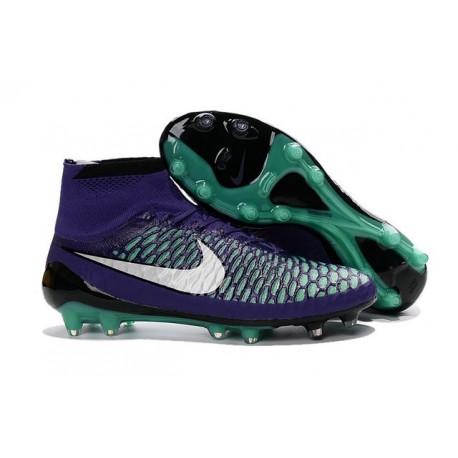 Nike Scarpe da Calcio Nuovo 2016 Magista Obra FG Viola Verde Bianco