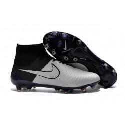 Nike Scarpe da Calcio Nuovo 2016 Magista Obra FG Pelle Bianco Nero