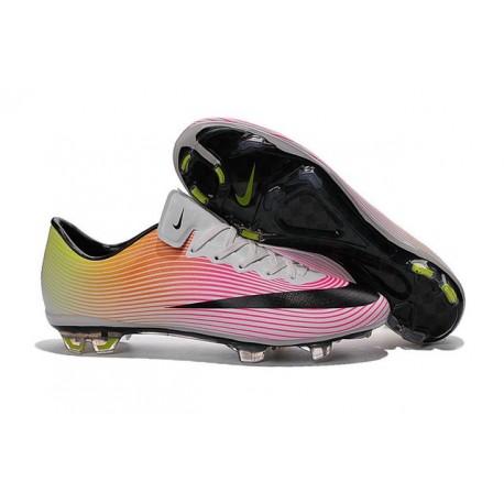 Scarpa da Calcio Nike Mercurial Vapor 10 FG Bianco Nero Rosa