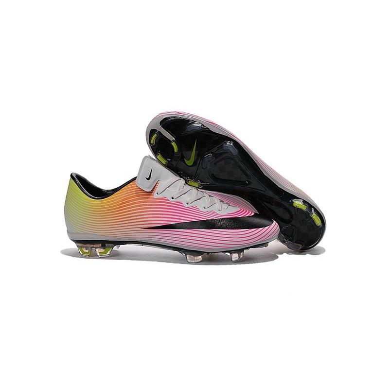 Scarpa da Calcio Nike Mercurial FG Vapor 10 FG Mercurial Bianco Nero Rosa 16c691
