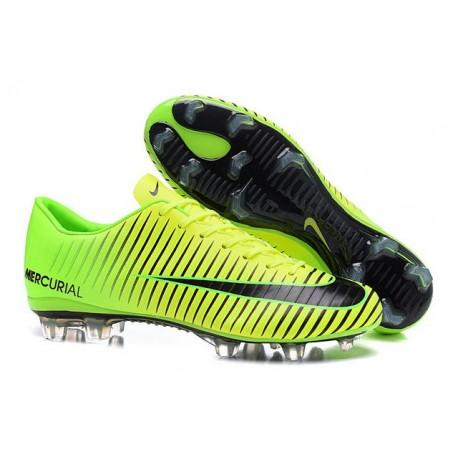 Scarpini Calcetto Nike Mercurial Vapor XI FG Uomo Verde Nero