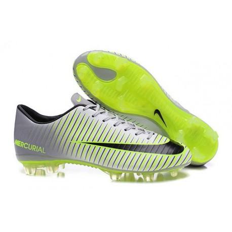 Scarpini Calcetto Nike Mercurial Vapor XI FG Uomo Metallico Verde Nero