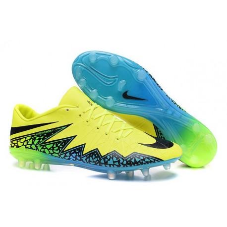 Scarpini Calcio Nuove 2016 Nike Hypervenom Phinish FG Verde Nero Blu