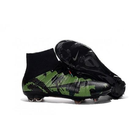 Scarpe Calcetto Nuovo Nike Mercurial Superfly FG ACC Camo Verde Nero