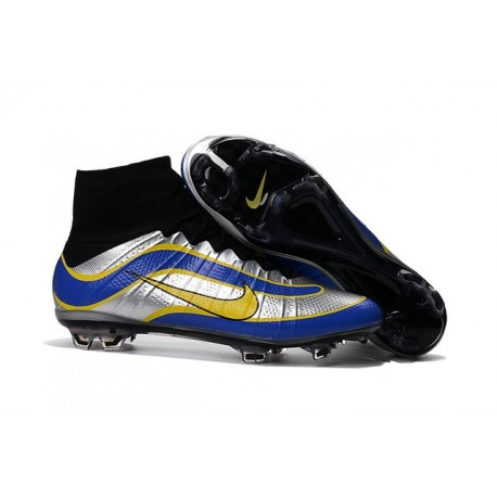 Nuovo 2016 Scarpe Nike Mercurial Superfly Heritage Argent Blu Giallo
