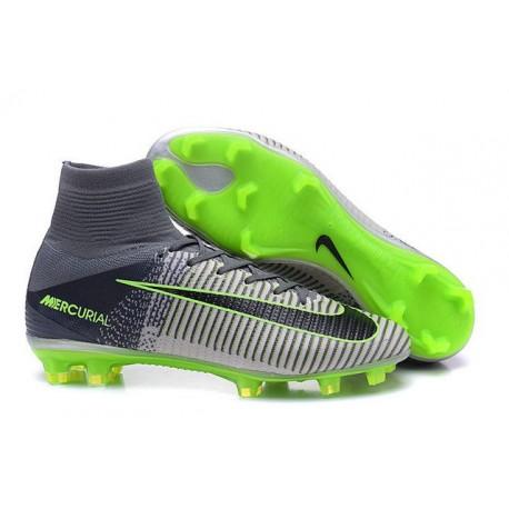 Scarpe Calcio 2016 Nuovo Nike Mercurial Superfly 5 FG Grigio Nero