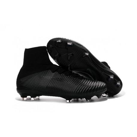Scarpe Calcio 2016 Nuovo Nike Mercurial Superfly 5 FG Tutto Nero