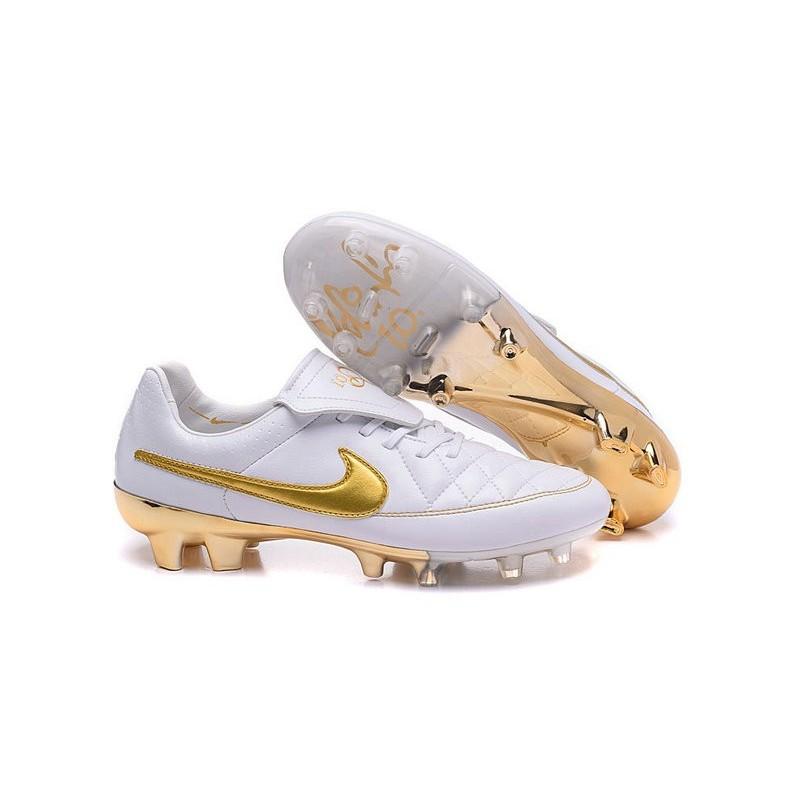 Nike Acc Da Scarpini Oro R10 Bianco Calcetto Fg Tiempo CoWxedrB