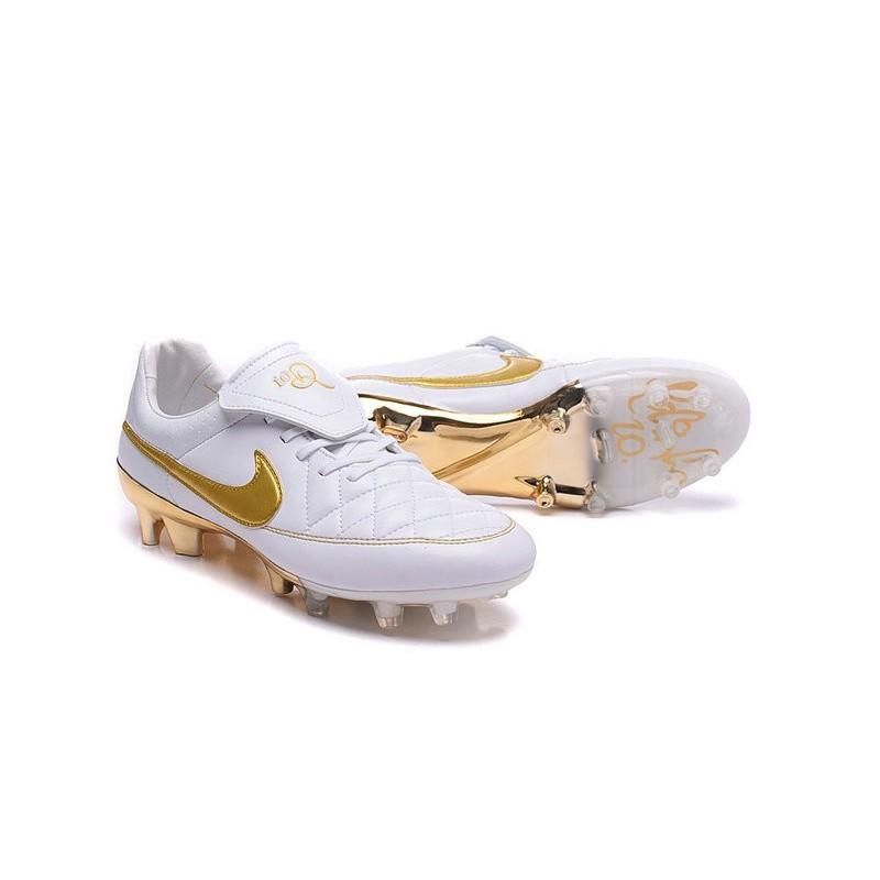 Acc Bianco Oro Nike Fg Tiempo Calcetto Scarpini Da R10 qxP706X6Zw