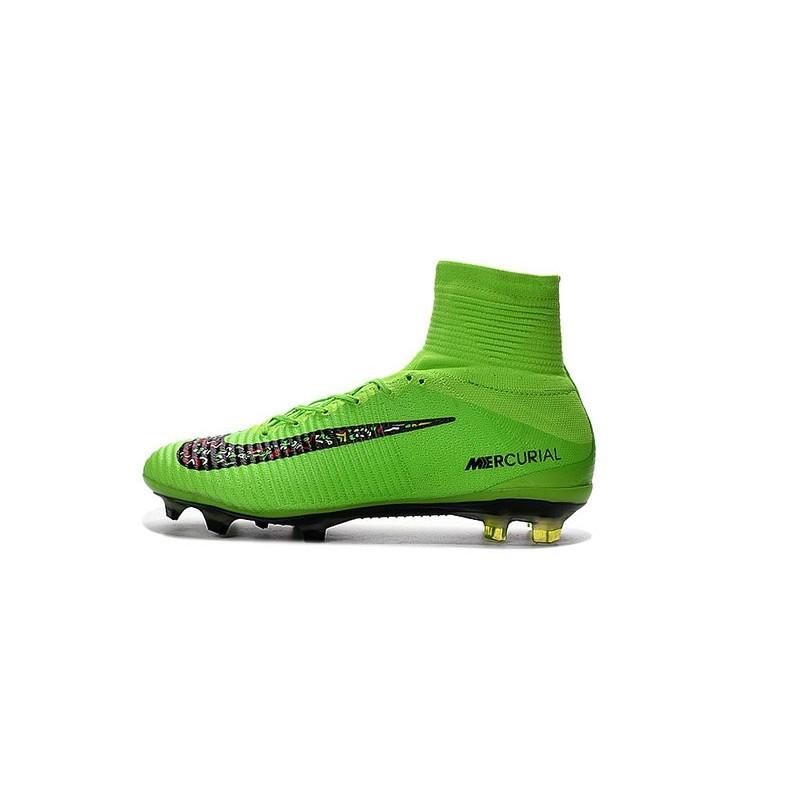 Nike Mercurial Superfly V FG ACC Nuove Scarpa da Calcetto Verde Nero Vedi a  schermo intero. Precedente. Successivo 3e85483af6a5