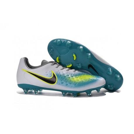 Nike Magista Opus II FG Nuovo 2016 Scarpe da Calcio Bianco Blu Nero