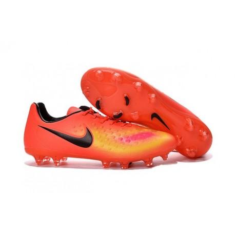 Nike Magista Opus II FG Nuovo 2016 Scarpe da Calcio Arancio Giallo Nero