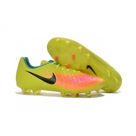 Nike Magista Opus II FG Nuovo 2016 Scarpe da Calcio Giallo Rosa Nero