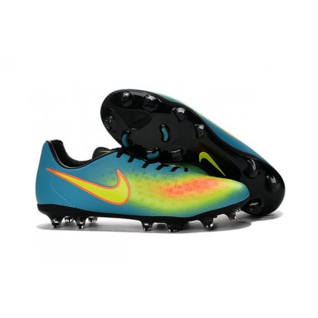 Nike Magista Opus II FG Nuovo 2016 Scarpe da Calcio Blu Giallo Arancio