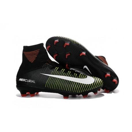 Scarpe da Calcio 2016 Nike Mercurial Superfly V FG ACC Nero Viola Bianco