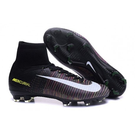Scarpe da Calcio 2016 Nike Mercurial Superfly V FG ACC Nero Bianco Rosa