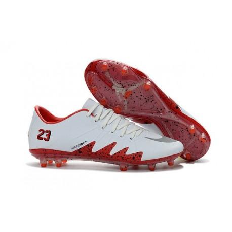 Scarpini Calcio Nike Hypervenom Phinish Neymar x Jordan FG Bianco Rosso