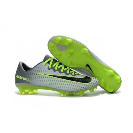 Nike Scarpa da Calcio 2016 Mercurial Vapor 11 FG ACC Grigio Nero Verde
