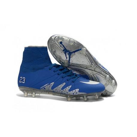 Nike Hypervenom Phantom II FG - Neymar x Jordan Blu Metallico