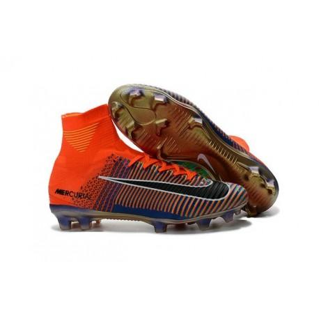 Nike Mercurial Superfly 5 FG Scarpa X EA Sports Arancio Blu Nero