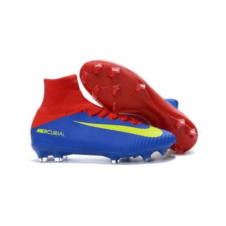 Nike Mercurial Superfly 5 FG Scarpa Uomo Rosso Blu Giallo