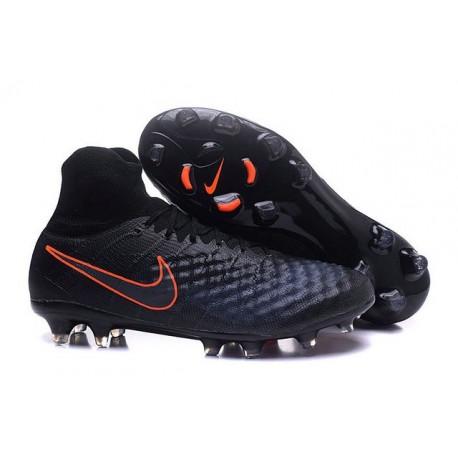 Nuovo Nike Scarpa da Calcio Magista Obra 2 FG Nero Arancio