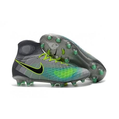 Nuovo Nike Scarpa da Calcio Magista Obra 2 FG Grigio Nero Blu