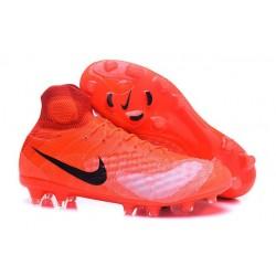 Nuovo Nike Scarpa da Calcio Magista Obra 2 FG Arancio Nero