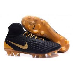 Nuovo Nike Scarpa da Calcio Magista Obra 2 FG Nero Oro